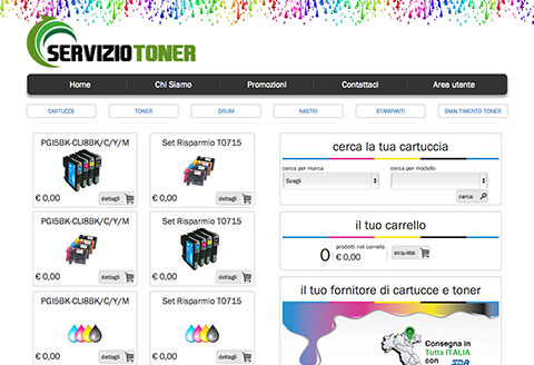 ServizioToner e-commerce